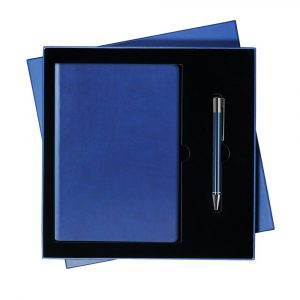 Подарочный набор Portobello/Latte синий (Ежедневник недат А5