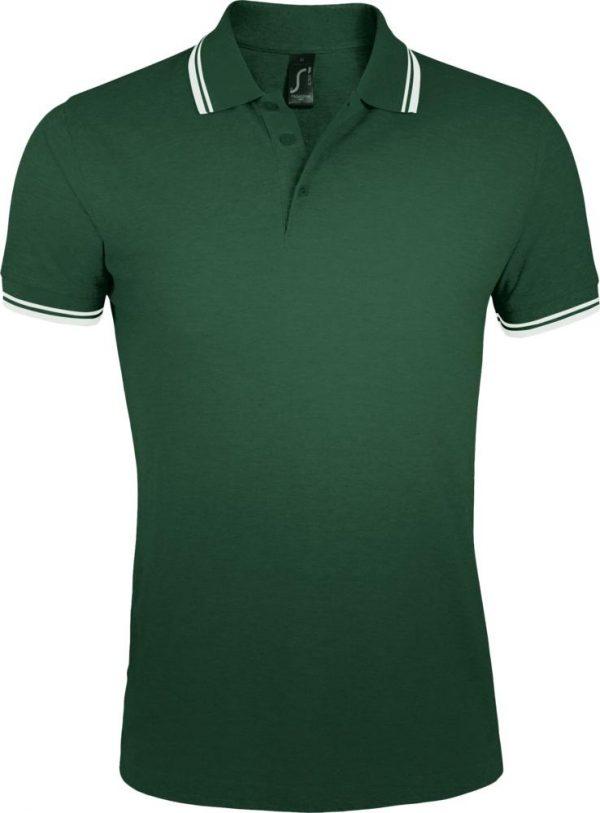 зеленая с белым