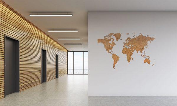 Деревянная карта мира World Map True Puzzle Large