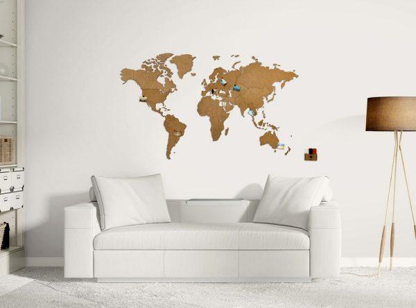 Деревянная карта мира World Map Wall Decoration Medium