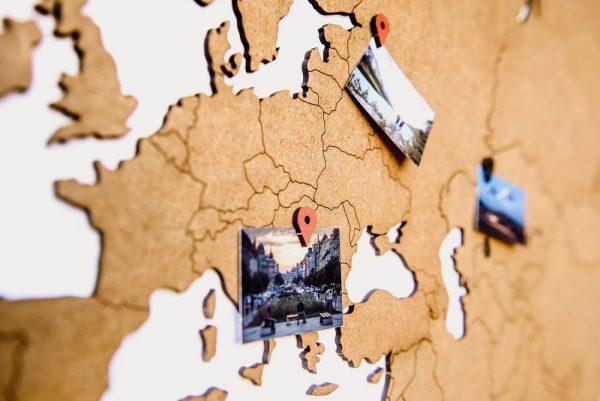 Деревянная карта мира World Map Wall Decoration Large