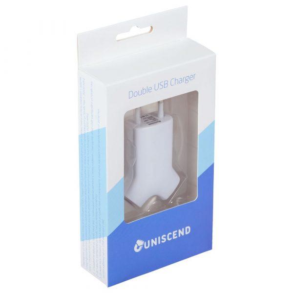 Сетевое зарядное устройство Uniscend Double USB