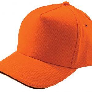 оранжевая с черным кантом