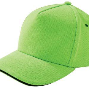 зеленое яблоко с черным кантом