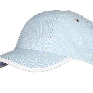 голубая с белым
