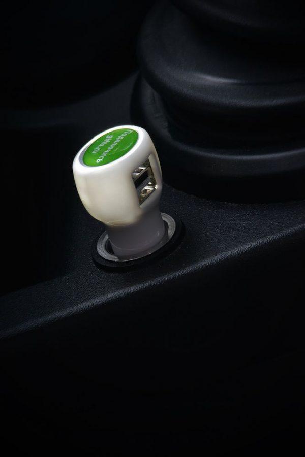 Автомобильное зарядное устройство с подсветкой Logocharger