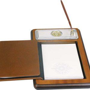 Подставка для бумажного блока с ручкой и телефонной книжкой Голова льва
