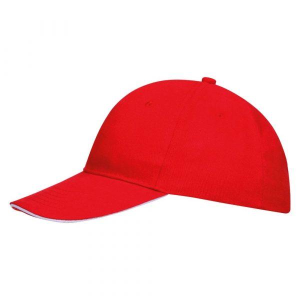 красная с белым