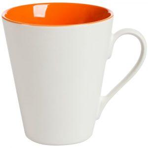 белая с оранжевым