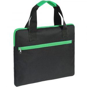 черная с зеленой отделкой