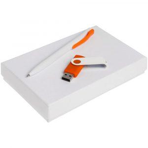 белый с оранжевым