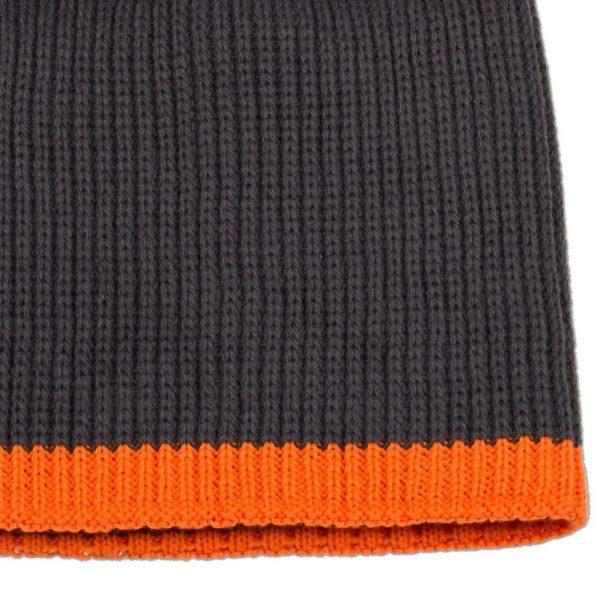 темно-серая с оранжевым