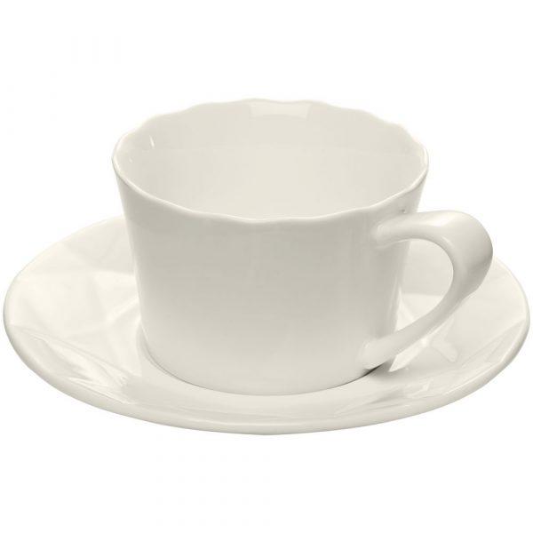 Чайная пара Diamante Bianco