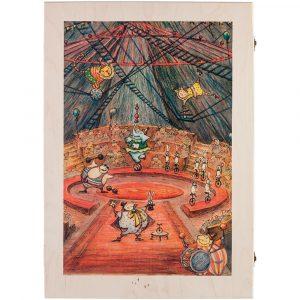 Набор из 6 елочных игрушек Circus Collection