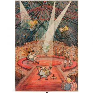 Набор из 3 елочных игрушек Circus Collection: фокусник