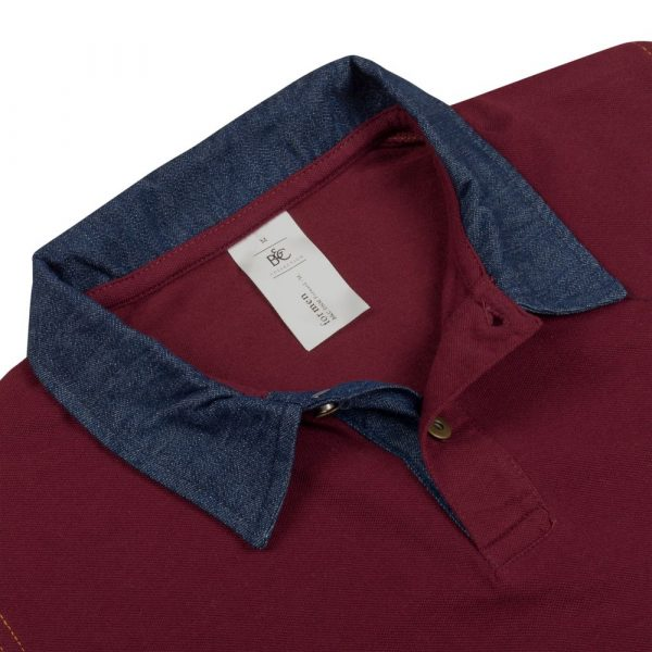 Рубашка поло мужская DNM Forward бордовая