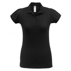 Рубашка поло женская Heavymill черная