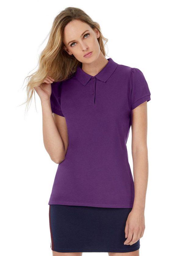 Рубашка поло женская Heavymill темно-синяя