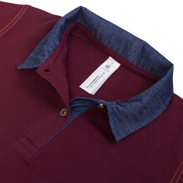 Рубашка поло женская DNM Forward бордовая