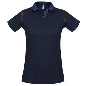 Рубашка поло женская DNM Forward темно-синяя