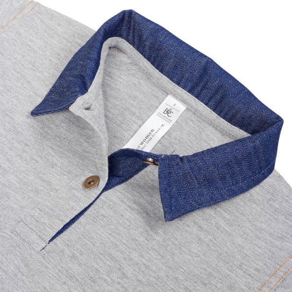 Рубашка поло женская DNM Forward серый меланж