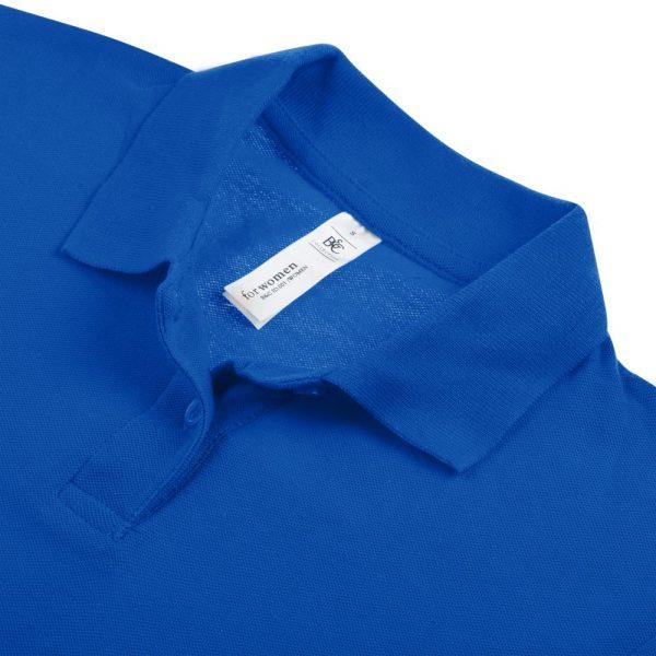 Рубашка поло женская ID.001 ярко-синяя