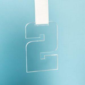 Медаль SECOND PLACE в подарочной упаковке 65х100х5 мм акрил