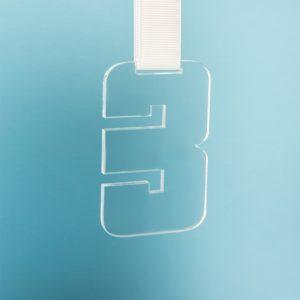 Медаль THIRD PLACE в подарочной упаковке 65х100х5 мм акрил