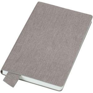 """Бизнес-блокнот А5 """"Provence"""" светло-серый мягкая обложка в клетку"""