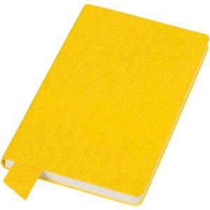 """Бизнес-блокнот А5 """"Provence"""" желтый мягкая обложка в клетку"""