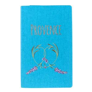 """Бизнес-блокнот А5 """"Provence"""" бирюзовый мягкая обложка в клетку"""