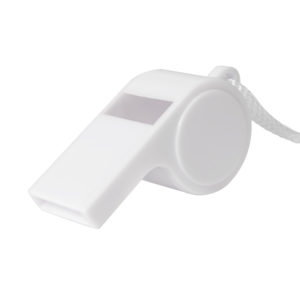 Свисток Судья белый 5x24х19см пластиктекстиль