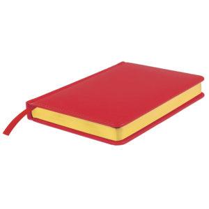 Ежедневник недатированный Joy А5 красный белый блок золотой обрез