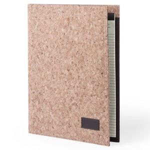 Папка HOYEB A4 с бумажным блоком пробковая ткань бежевый