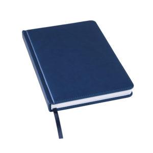 Ежедневник недатированный Bliss А5 темно-синий белый блок без обреза