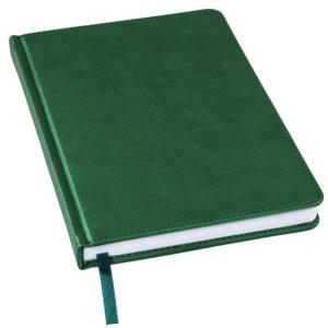 Ежедневник недатированный Bliss А5 темно-зеленый белый блок без обреза