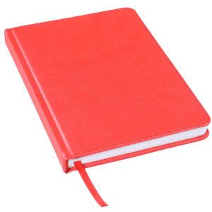 Ежедневник недатированный Bliss А5 красный белый блок без обреза