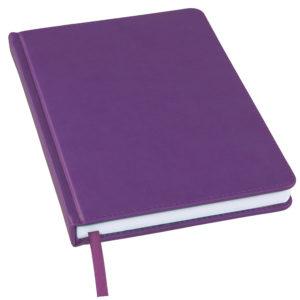 Ежедневник недатированный Bliss А5 фиолетовый белый блок без обреза
