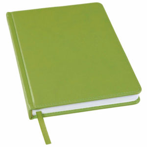 Ежедневник недатированный Bliss А5 оливковый белый блок без обреза