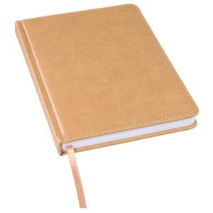 Ежедневник недатированный Bliss А5 светло-коричневый белый блок без обреза