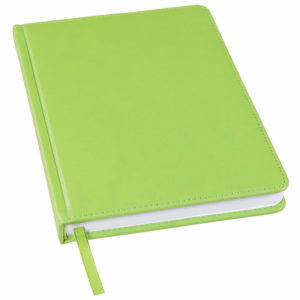 Ежедневник недатированный Bliss А5 зеленое яблоко белый блок без обреза