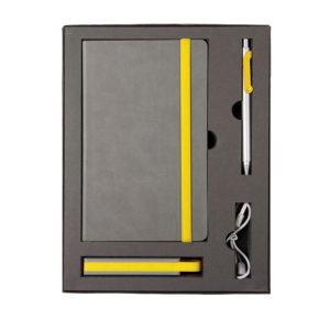 Набор FANCY: универсальное зарядное устройство(2200мAh) блокнот и ручка в подарочной коробке