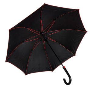 Зонт-трость BACK TO BLACK пластиковая ручка полуавтомат